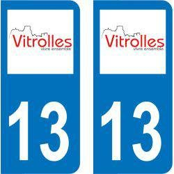 Sticker Plaque Vitrolles 13127