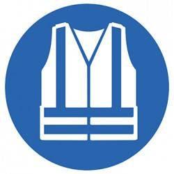 Sticker Panneau Gilet De Sécurité Haute Visibilité Obligatoire