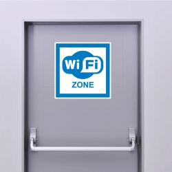 Sticker Panneau Zone Wifi