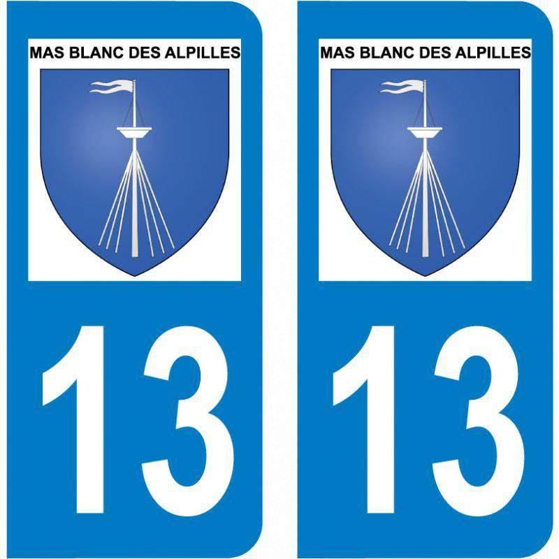 Sticker Plaque Mas-Blanc-des-Alpilles 13103