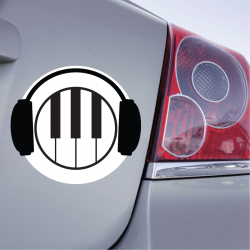 Sticker Piano Casque - 1