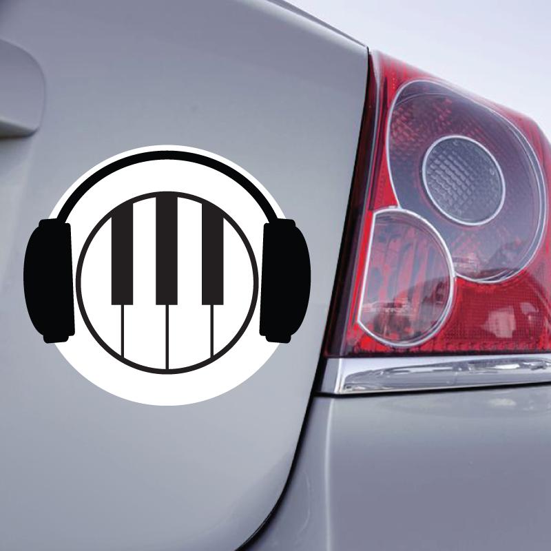 Sticker Piano Casque - 1