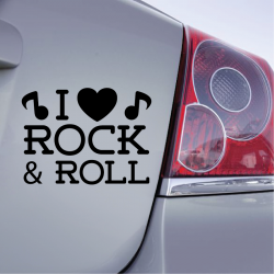 Sticker I love Rock & Roll