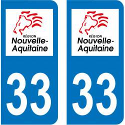Autocollant Plaque 33 Gironde
