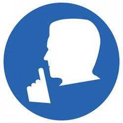 Sticker Panneau Silence Obligatoire Zone Calme