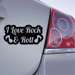 Sticker I love Rock & Roll Note