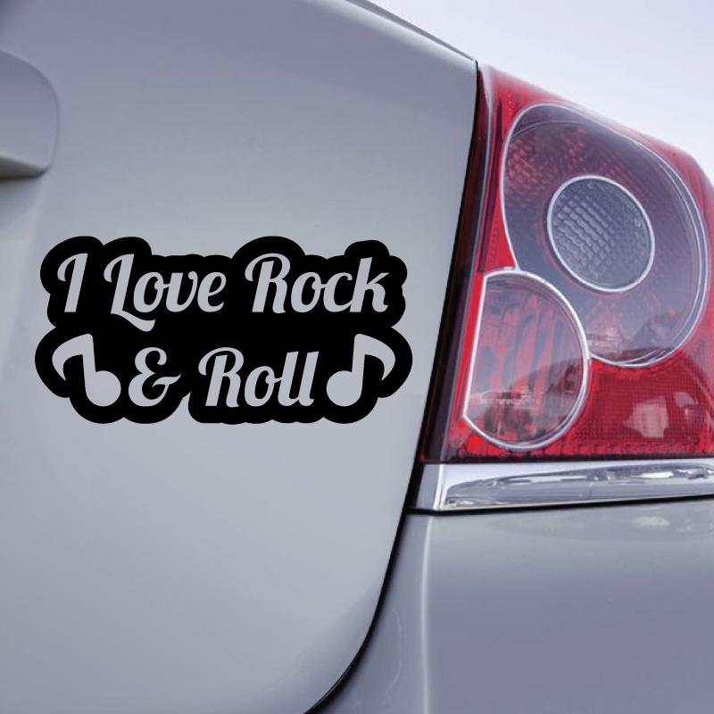 Sticker I love Rock & Roll Note