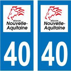 Autocollant Plaque 40 Landes