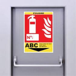 Sticker Extincteur Classe ABC -POUDRE