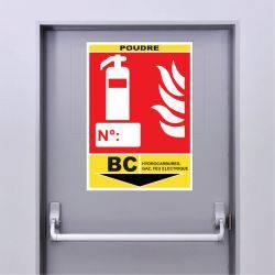 Sticker Extincteur Classe BC -POUDRE