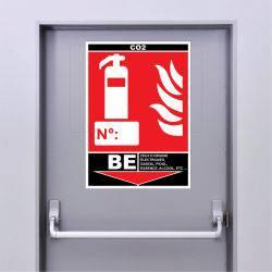 Sticker Extincteur Classe BE - CO2
