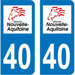 Sticker Plaque 40 Landes