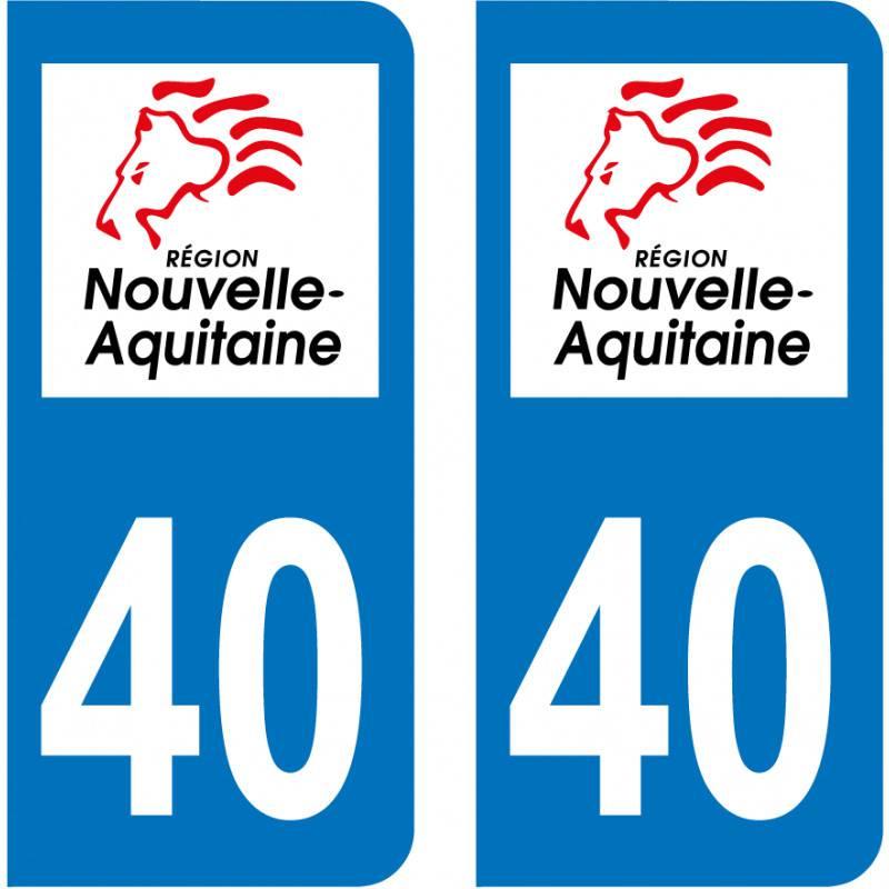 Sticker Plaque 40 Landes