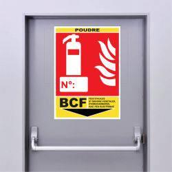 Sticker Extincteur Classe BCF - POUDRE