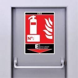 Sticker Extincteur Classe E - CO2