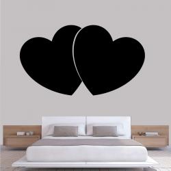 Sticker Mural Double Cœur - 1