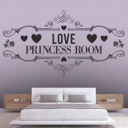 Sticker Mural Love Princess Room - 1