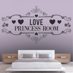 Sticker Mural Love Princess...