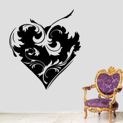 Sticker Mural Coeur Baroque