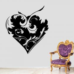 Sticker Mural Coeur Baroque - 1