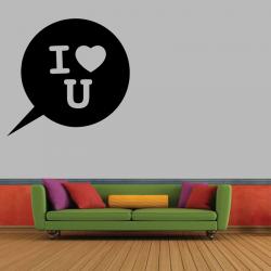 Sticker Mural I Love You - 1