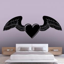 Sticker Mural Le Coeur D'un Ange - 1