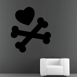 Sticker Mural Skull Cœur