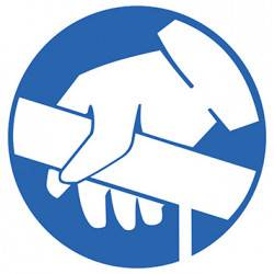Sticker Panneau Obligation D'utiliser La Rampe