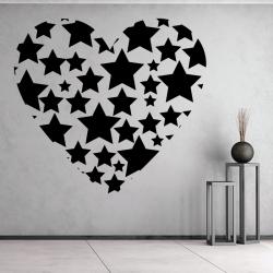 Sticker Mural Coeur Etoile