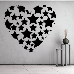 Sticker Mural Coeur Etoile - 1
