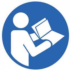 Sticker Panneau Obligation De Consultez Le Manuel D'utilisation