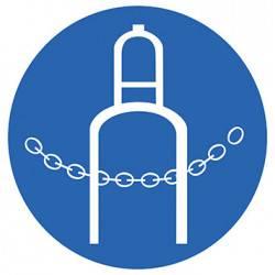 Sticker Panneau Obligation D'attacher Les Bouteilles De Gaz