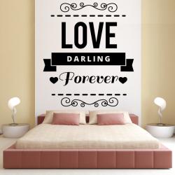 Sticker Mural Love Darling...