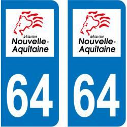 Sticker Plaque 64 Pyrénées-Atlantiques