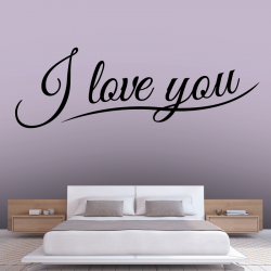 Sticker Mural Texte I Love You