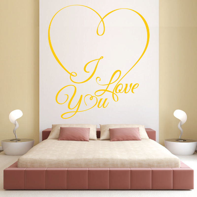 sticker mural coeur tête de lit - Decoration Stickers Muraux Adhesif
