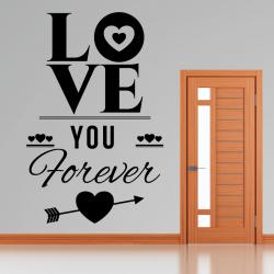 Sticker Mural Love You Forever