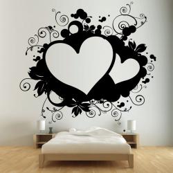 Sticker Mural Coeur Grunge