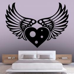 Sticker Mural Coeur D'ange