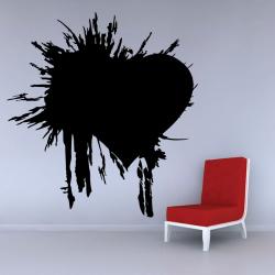 Sticker Mural Coeur Explosé