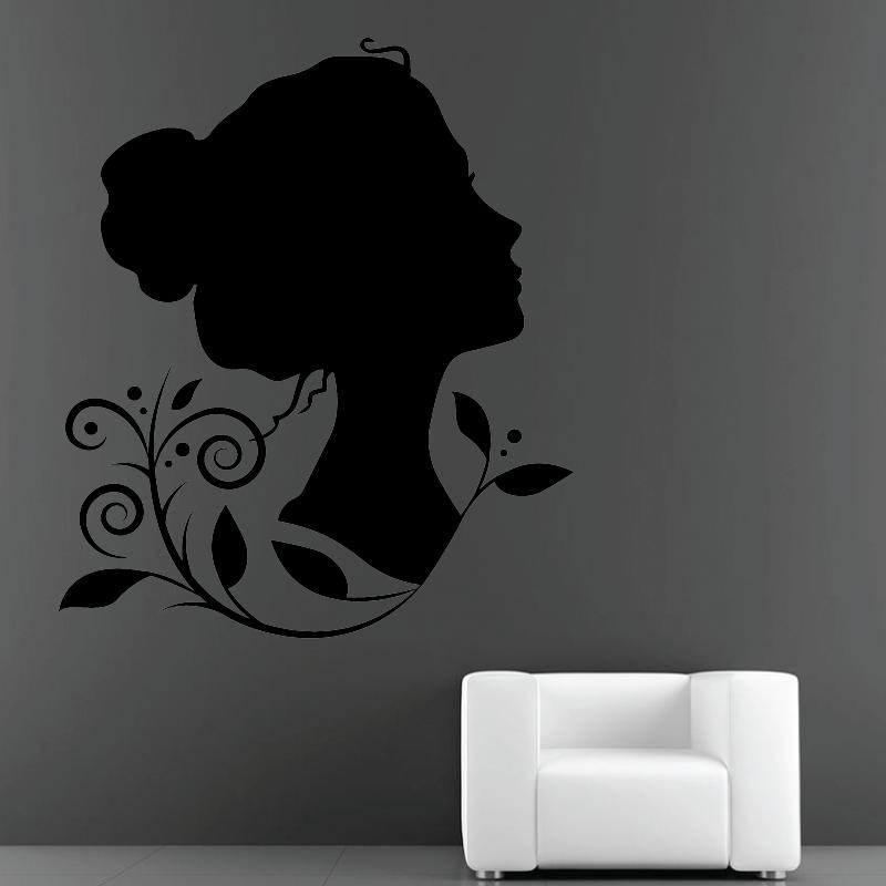 Sticker Mural Silhouette Floral - 1