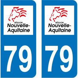 Sticker Plaque 79 Deux-Sèvres