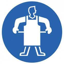 Sticker Panneau Port D'un Tablier De Protection Obligatoire