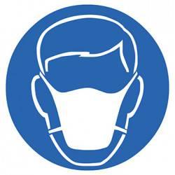 Sticker Panneau Port D'un Masque Poussière Obligatoire
