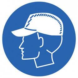 Sticker Panneau Port de la casquette coquée obligatoire