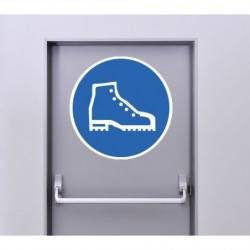 Autocollant Panneau Port Des Chaussures De Sécurité Obligatoire