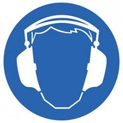 Sticker Panneau Port Du Casque Anti-bruits Obligatoire