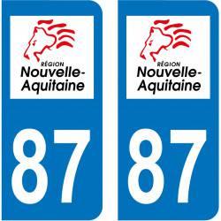 Sticker Plaque 87 Haute-Vienne