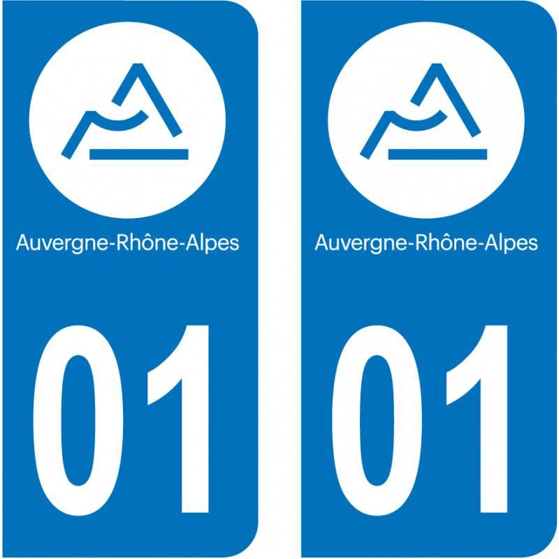 Paire Sticker immatriculation 71 Sa/ône et Loire