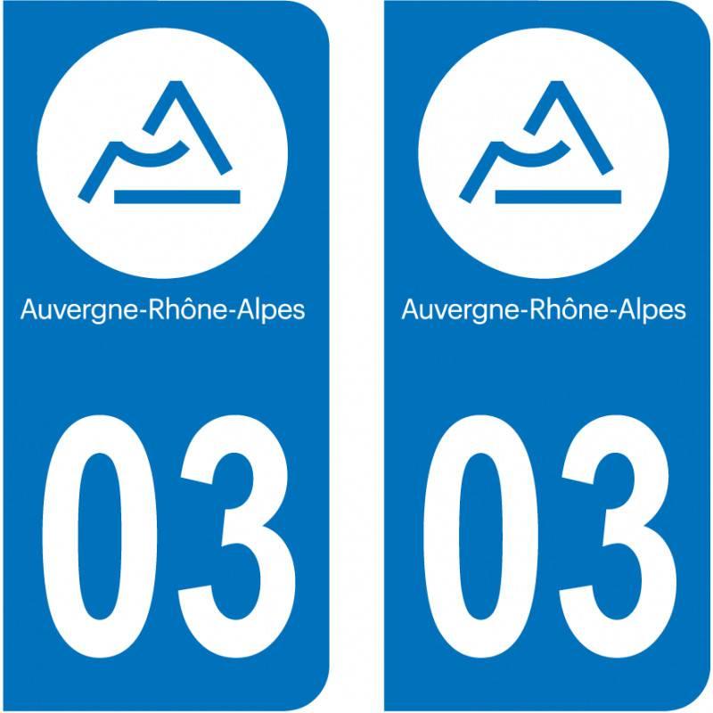 Sticker Plaque 03 Allier